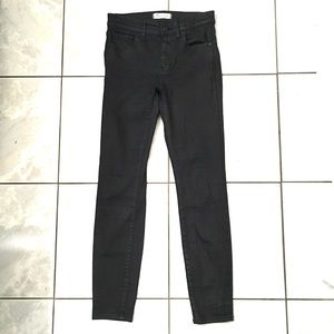 Madewell Woman's Black Coated Skinny Jeans